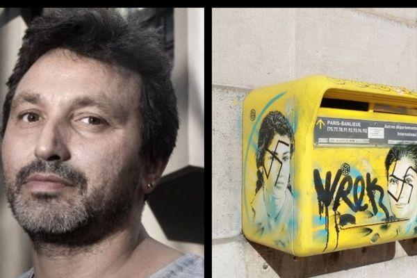 L'artiste C215 (à gauche) a réagi à propos d'inscriptions antisémites sur des portraits qu'il avait peint sur des boîtes à lettres.
