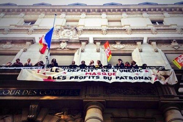 Occupation de la Cour des Comptes jeudi 13 mars par les intermittents