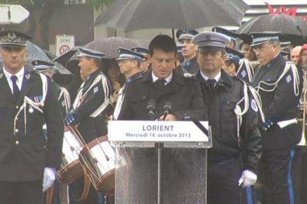 Le ministre de l'intérieur Manuel Valls a présidé la cérémonie