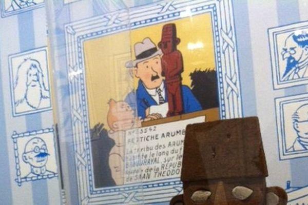 La nouvelle exposition du Musée en Herbe est consacrée à Tintin le reporter à la houpette et aux chaussettes blanches.