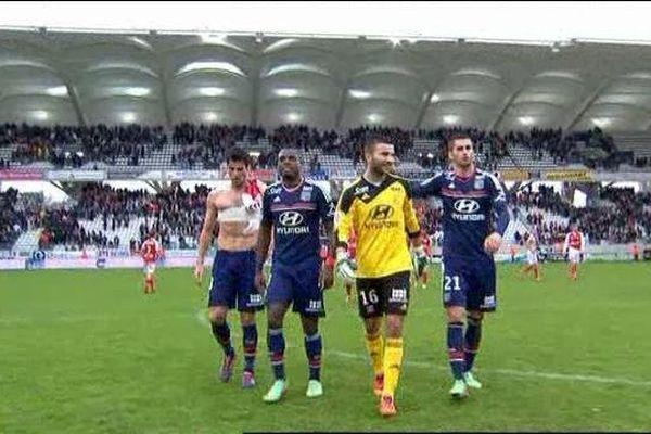 Les Lyonnais tout sourire à l'issue de la rencontre.