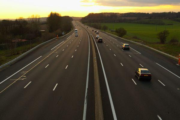 L'autoroute A6 est fermée dans les deux sens de circulation entre la Saône-et-Loire et le Rhône (image d'illustration)