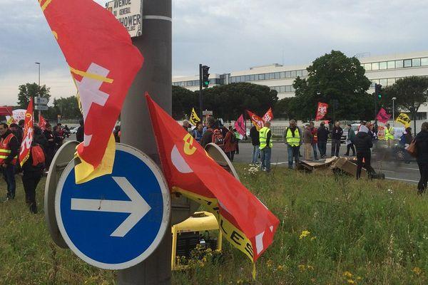 Les opposants à la loi travail ont installé des barrages filtrants à Toulouse