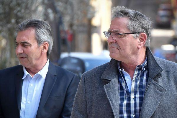 19/03/2019 - Bruno Odos (G) and Jean Fauret, respectivement co-pilote et pilote, poursuivis pour trafic international de stupéfiants.