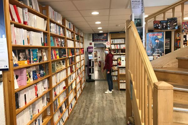 Les allées du Brouillon du culture à l'occasion de la fête des librairies indépendantes, le samedi 24 avril 2021.