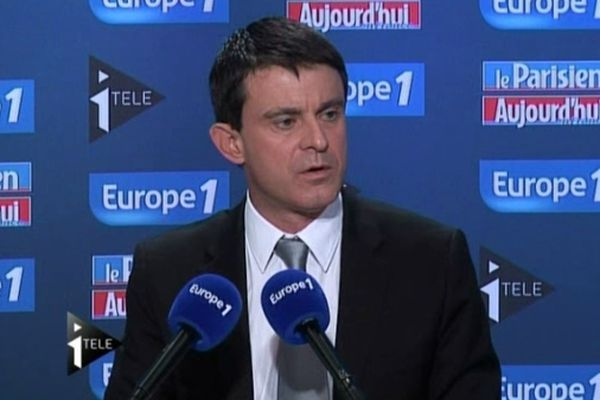 Manuel Valls, invité du grand rendez-vous d'Europe 1 - itélé, le 9 décembre