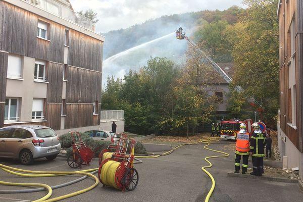 Le dispositif de lutte contre l'incendie a été important.