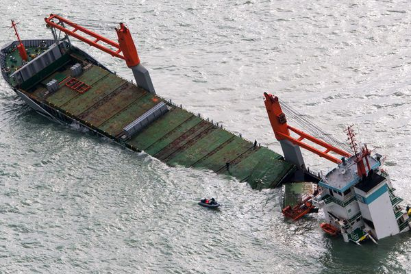 Le Flinterstar a fait naufrage le 6 octobre dernier, suite à une collision avec le méthanier Al Oraiq
