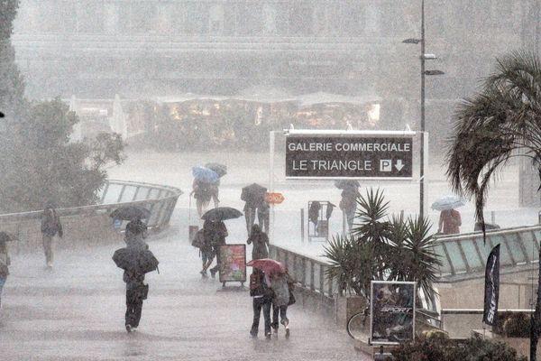 Episode orageux avec de fortes pluies sur Montpellier, le 3 septembre 2021