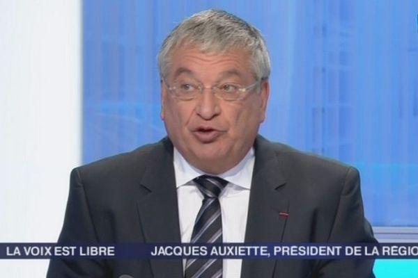 Jacques Auxiette sur le plateau de la Voix est Libre, samedi 22 septembre