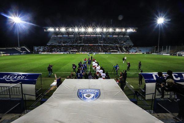 Le terrain du Sporting Club de Bastia, le 14 octobre 2017.