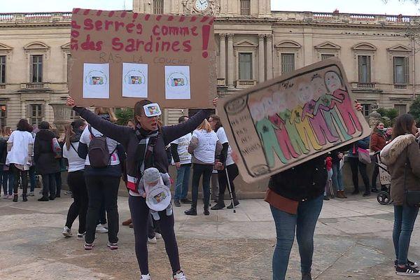 Montpellier : les personnels des crèches en grève pour dénoncer une réforme de l'accueil des enfants - 14 janvier 2020.