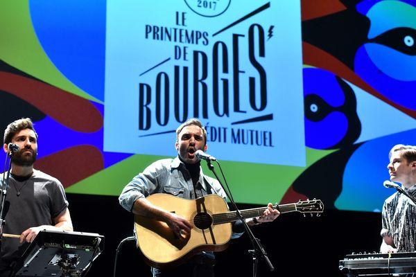 Lors de la présentation de la programmation complète du festival de musique le Printemps de Bourges du 18 au 23 avril prochain. Le groupe Talisco a fait un mini concert sur scène, mardi 24 janvier 2017.