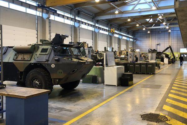 Le dernier hangar du 6e régiment du matériel de Besançon a été inauguré en 2013.