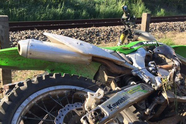Plus de peur que de mal pour un jeune homme de 20 ans, percuté avec sa moto par un TER à Lescure d'Albigeois (81).