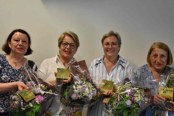 Les quatre joueuses de bridge championnes de France Dames par équipes.