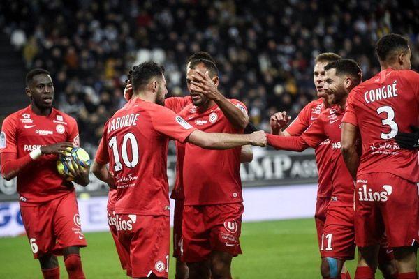 Les joueurs du Montpellier Hérault, le 11 janvier 2020, à Amiens.