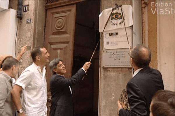Inauguration du consulat du Brésil, rue Napoléon à Bastia.