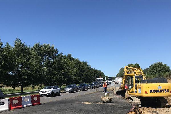 Les travaux, débutés le 8 juillet, se termineront le 9 août.
