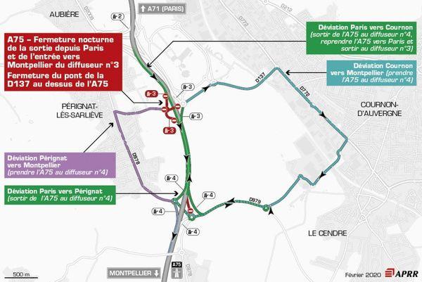 Mardi 25 février des fermetures sont à prévoir sur l'A75