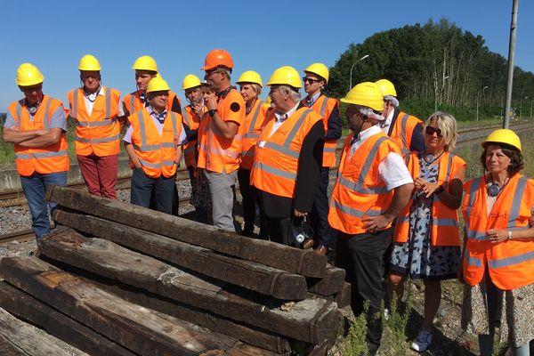 Visite de chantier en gare de Xertigny d'un tronçon de la ligne Blainville-Lure est en cours de modernisation