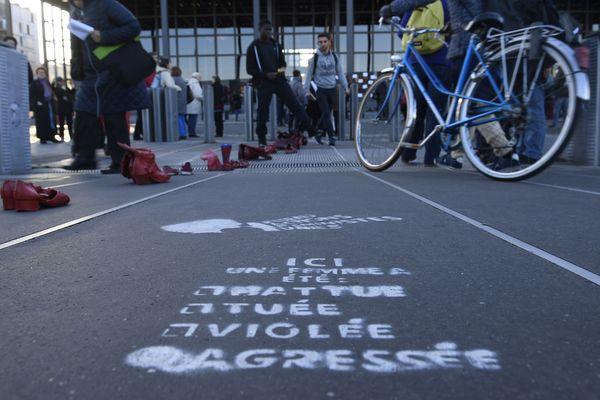 Action contre la violence faite aux femmes à Nantes, le 25 novembre 2017