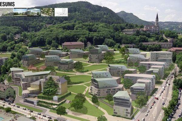 Les Trésums, futur quartier ultra-moderne d'Annecy imaginé par l'architecte Christian de Portzamparc