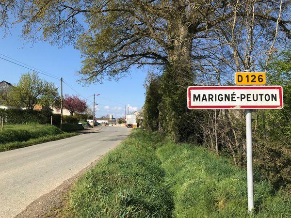 La commune de Marigné-Peuton (Mayenne), dont est originaire Agnès Bordeau