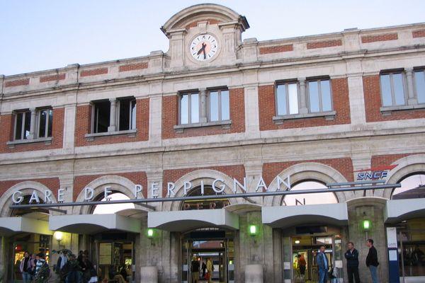 Le hall de l'ancienne gare de Perpignan est en pleine rénovation