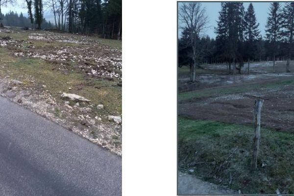 Passage du casse-cailloux près du Russey dans le Doubs en mars 2020