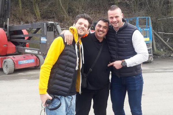 Greg Guillotin, Damien et Sébastien Vanhelle après le tournage