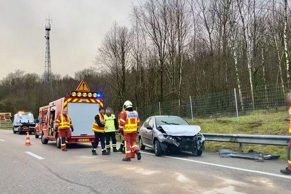 Un accident sur l'autoroute A20 en février 2020