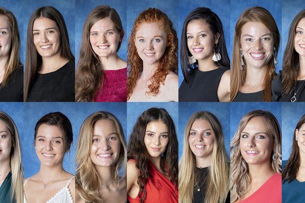 Les 14 candidates en lice pour l'élection de Miss Auvergne 2018.