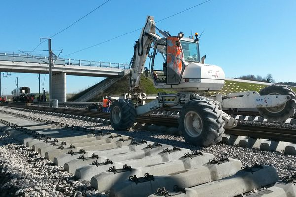 Des rails de 432 mètres de long