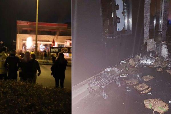 Le Burger King incendié la nuit dernière à Hénin-Beaumont