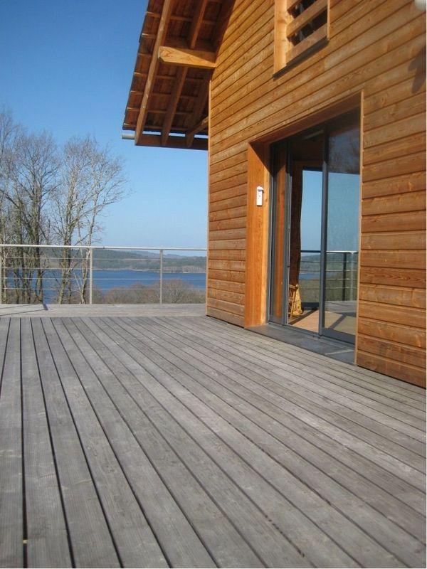 Exemple d'une construction dotée de matériaux biosourcés, ici en bois.