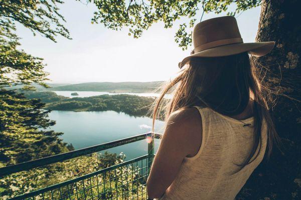 Le belvédère des quatre lacs dans le Jura.