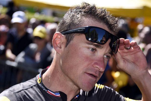 Thomas Voeckler sur le Tour de France, le 16 juillet 2016.
