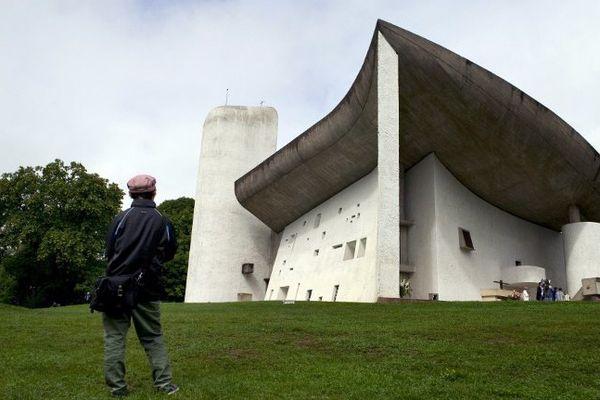La chapelle de Ronchamp en Haute-Saône l'une des oeuvres de l'architecte Le Corbusier