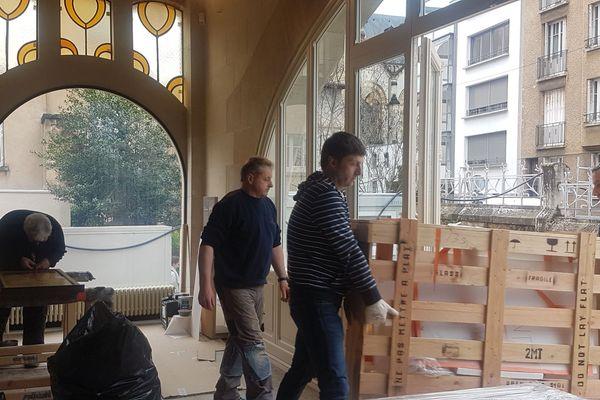 Ré-aménagement en cours d'achèvement.