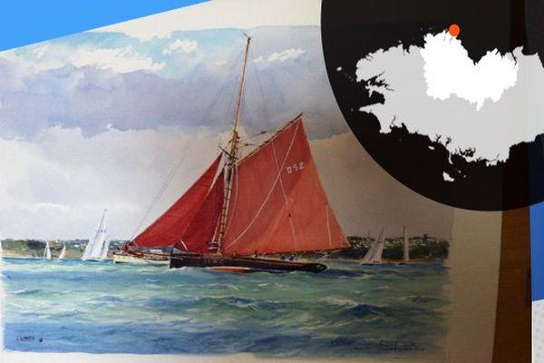 Paysage maritime vu par Guy l'Hostis, peintre de la marine