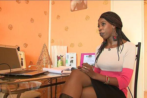 Dieynaba N'Diaye, jeune créatrice, a pu développer son projet grâce au soutien de l'ADIE