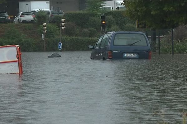 1 mètre d'eau dans plusieurs rues de Saint-Etienne, ce jeudi 6 septembre