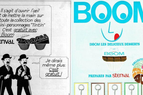 Publicité pour Boom datant des années 60-70