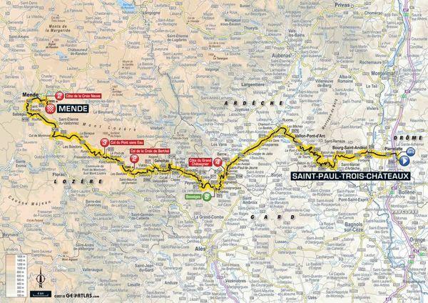 La carte de la 14e étape du Tour 2018
