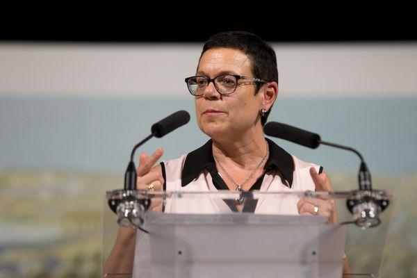 Christine Bouquin (LR), présidente du conseil départemental du Doubs
