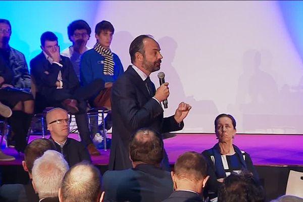 Edouard Philippe en meeting à Vesoul