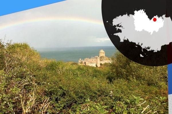 Arc-en-ciel sur Fort La Latte