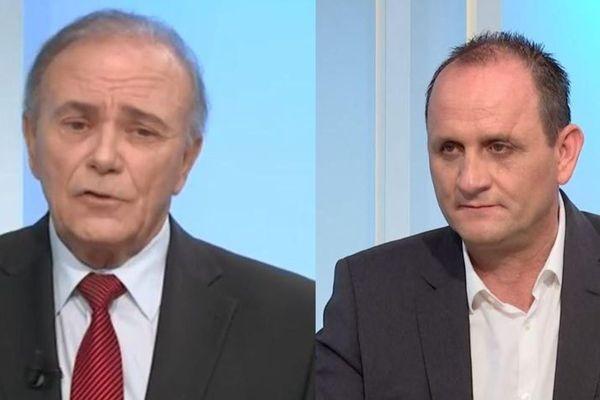 """Sauveur Gandolfi-Sheit, le maire sortant, fait face à Jean-Charles Giabiconi, tête de liste de """"Biguglia per tutti""""."""