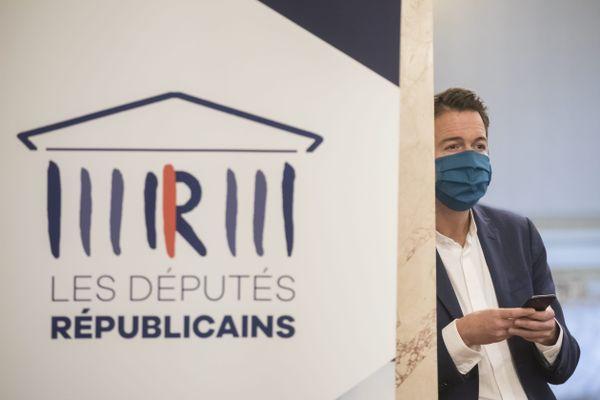 Guillaume Peltier lors d'un séminaire chez Les Républicains, en octobre 2020.